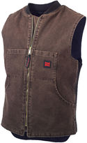 JCPenney Tough Duck Quilted Workwear Vest-Big & Tall