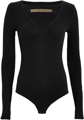 Enza Costa V-Neck Jersey Bodysuit