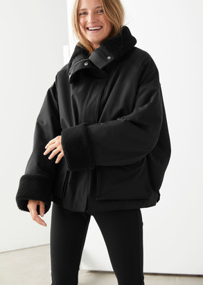 And other stories Oversized Boxy Shearling Jacket