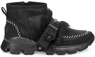 UGG Fluff Punk UGGPure Lamb Fur Suede Ankle Boots