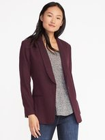 Old Navy Herringbone Long-Line Blazer for Women