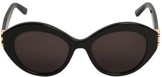 Balenciaga 0133s Dynasty Oval Acetate Sunglasses