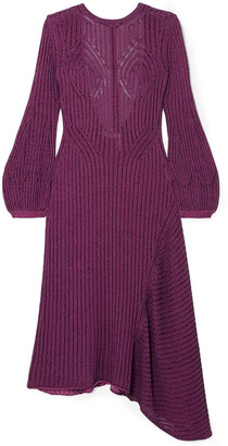 Chloé Ribbed Cotton-blend Midi Dress
