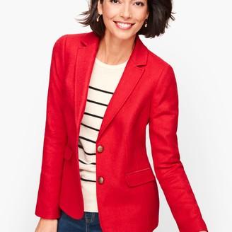 Talbots Shetland Wool Blazer - Red Pop