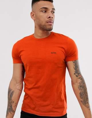 Boss Athleisure logo t-shirt in dark orange