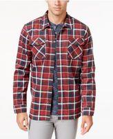 Weatherproof Vintage Men's Big and Tall Knit Plaid Shirt Jacket, Classic Fit