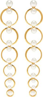 Insane Bead embellished 18k gold plated sterling silver hoop earring