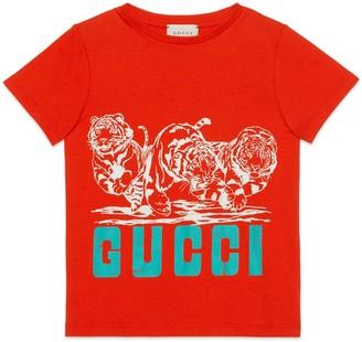 Gucci Children's Elliot Snowman print cotton T-shirt