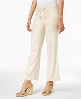 NYDJ Petite Jamie Linen-Blend Drawstring Pants