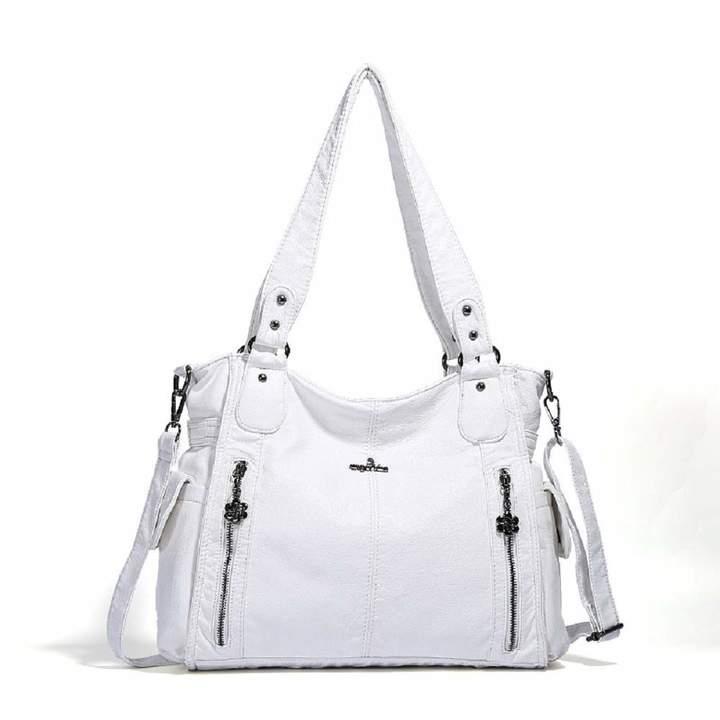 94743a21c199 EHOMEE Angelkiss Women Shoulder Bag Top-handle Handbag Retro Satchel Soft  Tote Bag PU Leather Crossbody Bags