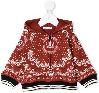 Dolce & Gabbana Kids Bandana Print Hoodie Jacket