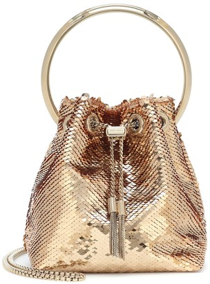 Jimmy Choo Bon Bon embellished bucket bag