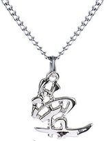 Body Candy Stainless Steel Chain Love Chinese Symbol Pendant Necklace, 18""