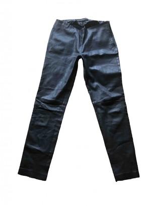 Ventcouvert Black Leather Trousers