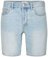 Topman Light Wash Slim Denim Shorts