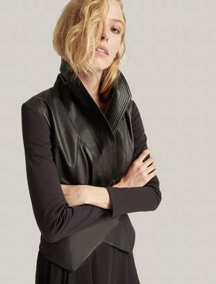 Halston Leather Combo Jacket