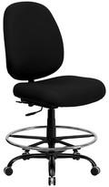 Ashley HERCULES Series 400 lb. Capacity Big & Tall Drafting Chair Black - Flash Furniture
