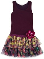 Zunie Girls' Tiered Mesh Skirt Tank Dress - Sizes 2-6X