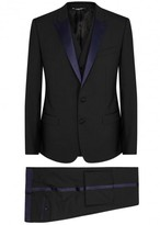 Dolce & Gabbana Black Wool Blend Three-piece Tuxedo Suit