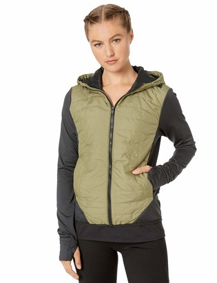 Core 10 Lightweight Insulated Thermal Hoodie Run Jacket Olive/Black XL (16)