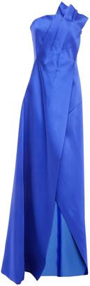Lanvin Strapless Pleated Wool-blend Duchesse-satin Gown