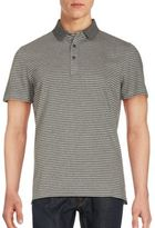 J. Lindeberg Slim-Fit Short Striped Cotton Polo