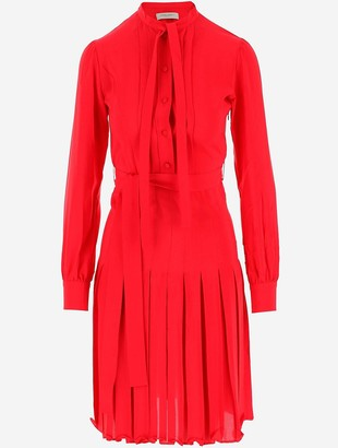 Golden Goose Pure Red Silk Women's Dress