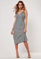 Missguided Stripe Midi Slip Dress