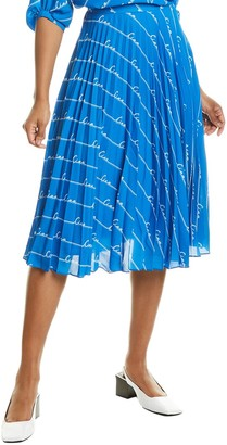 Chinti and Parker Ciao Pleated Midi Skirt