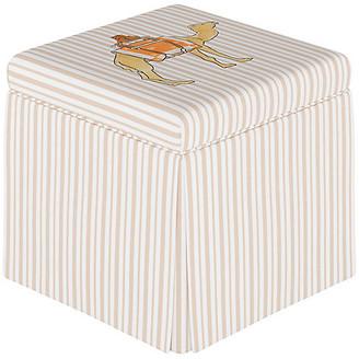 Gray Malin X Cloth & Company Camel Stripe Storage Ottoman - English Tan