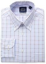 Eagle Men's Non Iron Stretch Collar Regular Fit Tattersall Dress Shirt