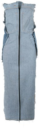 Litkovskaya Raw Edge Denim Dress