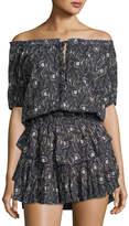 LoveShackFancy Poppy Paisley-Print Tiered Dress
