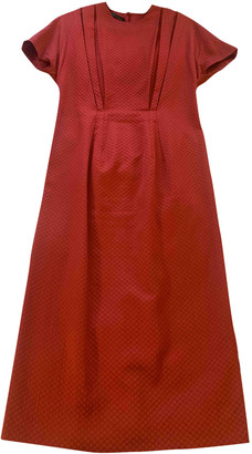 Emilia Wickstead Red Silk Dresses