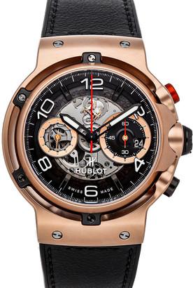 Hublot Black 18K Rose Gold Classic Fusion Ferrari GT King Gold Limited Edition 526.OX.0124.VR Men's Wristwatch 45 MM