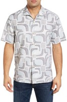 Tommy Bahama Men's Miles Of Tiles Short Sleeve Silk Camp Shirt