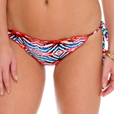 Luli Fama Crystalized Wavey Ruched Back Brazilian TieSide In Multicolor (L51702)