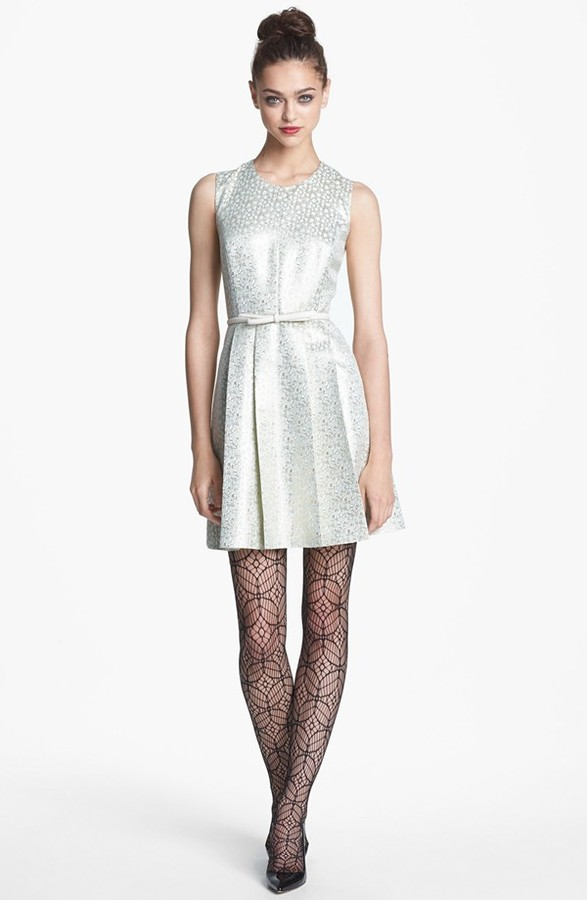 Nordstrom Miss Wu Marled Jacquard Cocktail Dress Exclusive)