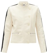 Bolt X Edie - Scramble Side-stripe Cotton-canvas Jacket - Womens - Ivory