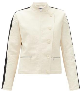 Bolt X Edie - Scramble Side-stripe Cotton-canvas Jacket - Ivory