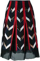 Emilio Pucci sheer detailing A-line skirt