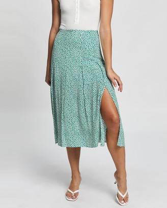 Atmos & Here Atmos&Here - Women's Green Midi Skirts - Esma Midi Skirt - Size 6 at The Iconic