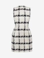 Alexander McQueen Dogtooth Check Mini Dress