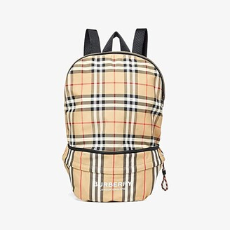 Burberry Rex Archive Stripe Backpack (Archive Beige) Backpack Bags