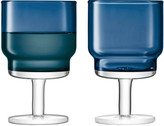 LSA International Sapphire Utility Wine Glasses, Set of 2