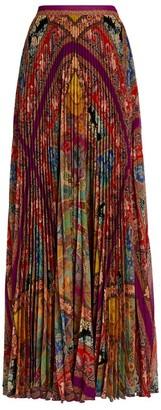 Etro Pleated Maxi Skirt