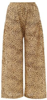 Mes Demoiselles Rosario Leopard-print Crepe Wide-leg Trousers - Beige Print