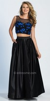 Dave and Johnny Two Piece Embroidered Floral A-line Prom Dress