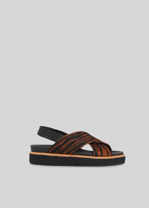 Robyn Tiger Cross Strap Sandal