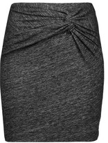 IRO Lousa Twisted Stretch Cotton-Blend Mini Skirt